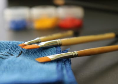 Use our premium brushes to paint large areas and fine details.